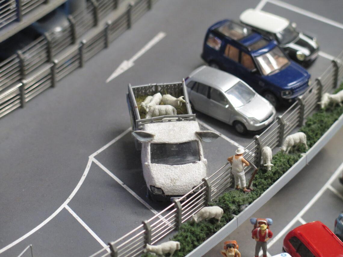 Grisetransport i Miniatur lufthavn