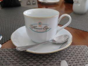 """Kaffekop med logo """"Heavens Edge"""""""