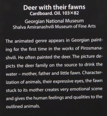 Beskrivelse af billedet Deer with their fawns fra Signagi Museet