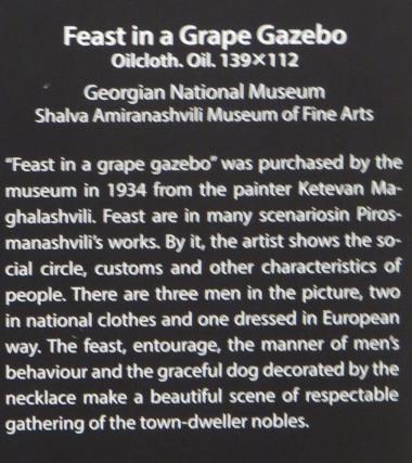 Beskrivelse af billedet Feast in a Grape Gazebo fra Signagi Museet