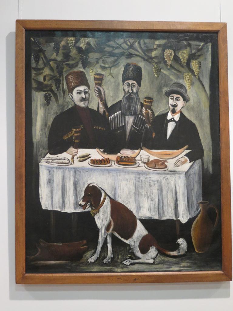 """Feast in a Grape Gazebo """"Fest i et vin-lysthus"""" af Pirosmani"""
