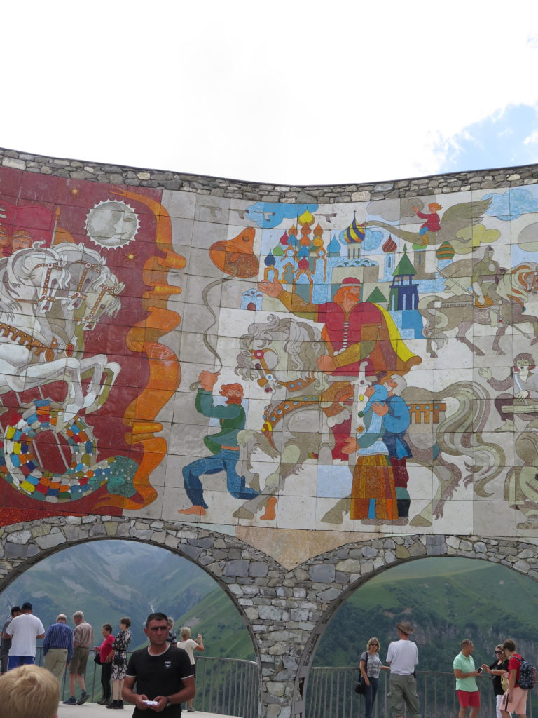 Historiske fortællinger på Russia-Georgia Friendship Monument
