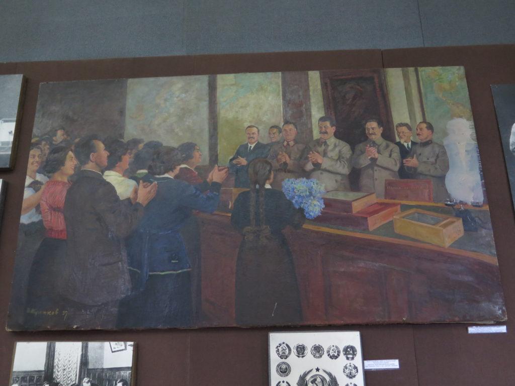 Bord fra konferencerummet i Kreml fra Stalin museet i Gori, Georgien