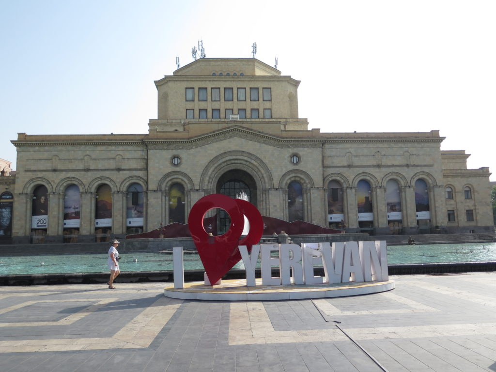 Det historiske museum på Republikpladsen i Yerevan
