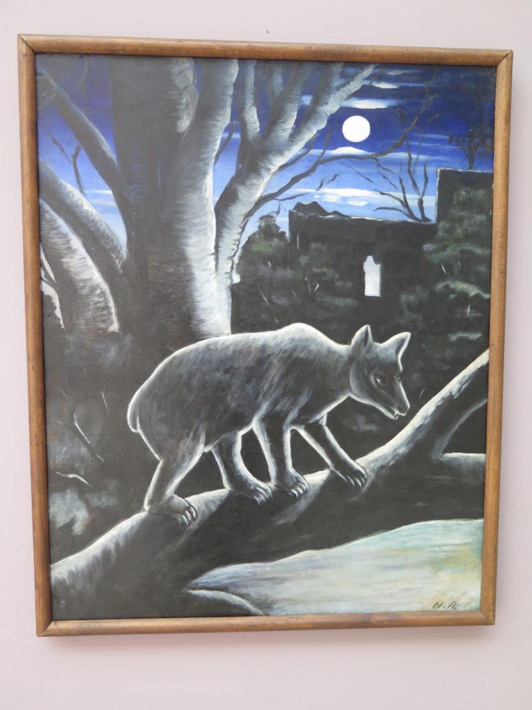 Bear in a moony night af Pirosmani