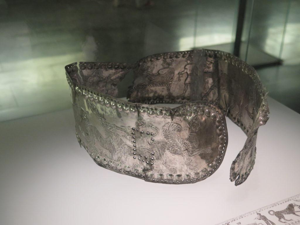Bælte fra gravplads fra 4. århundrede før vor tidsregning. Nationalmuseet i Tbilisi