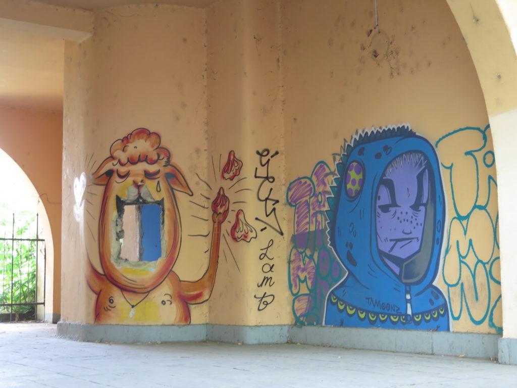 Graffiti i bybilledet i Tbilisi