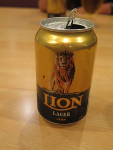 Empty Lion beer