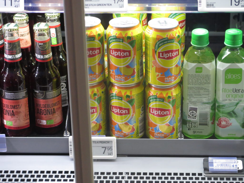 Lipton tea in a Danish kiosk