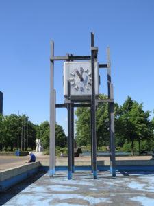 Rådhus-ur i Marl - en New Town i Ruhr