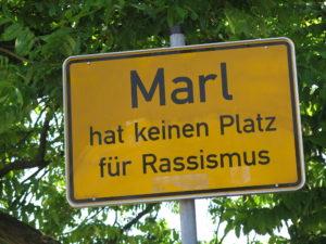 Rassismus vil man ikke have i Marl - en New Town i Ruhr