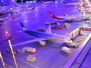 Nat i Miniatur lufthavn