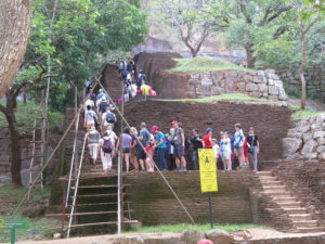 Here are steps no. 1-50 of the 1,200 steps to the top of Sigiriya (Lion Rock)