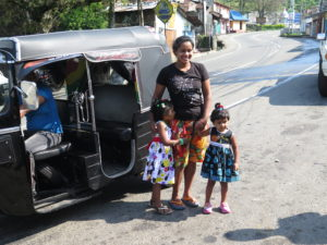 Hindu holiday with tuk-tuk in Sri Lanka