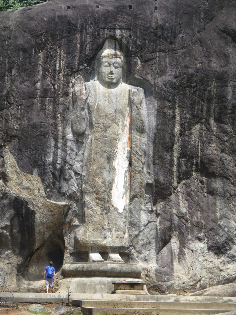 16-meter tall Buddha statue. From Ella to Yala