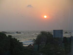 Solnedgang over Hikkaduwa