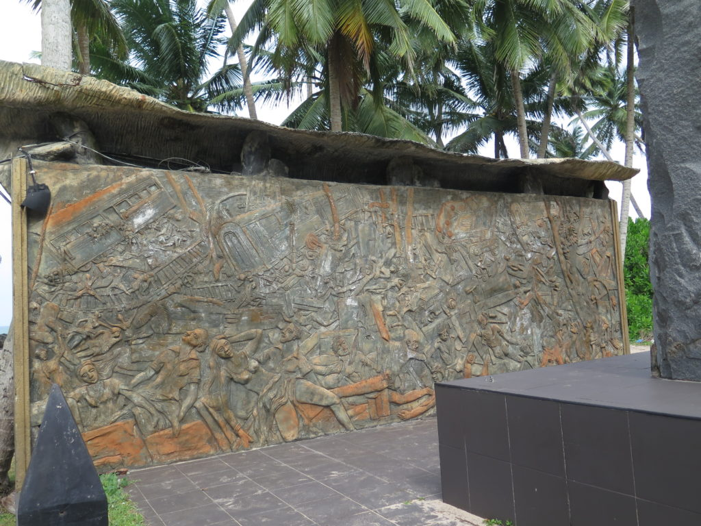 Monument to Queen of the Sea train accident from Sri Lanka - Tsunami 2004 -Train disaster