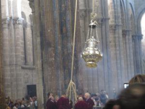 Røgelseskar i katedralen i Santiago de Compostela