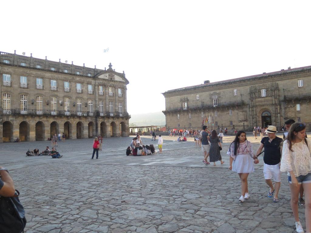 Pladsen foran Katedralen i Santiago de Compostela. Camino'en og Santiago de Compostela