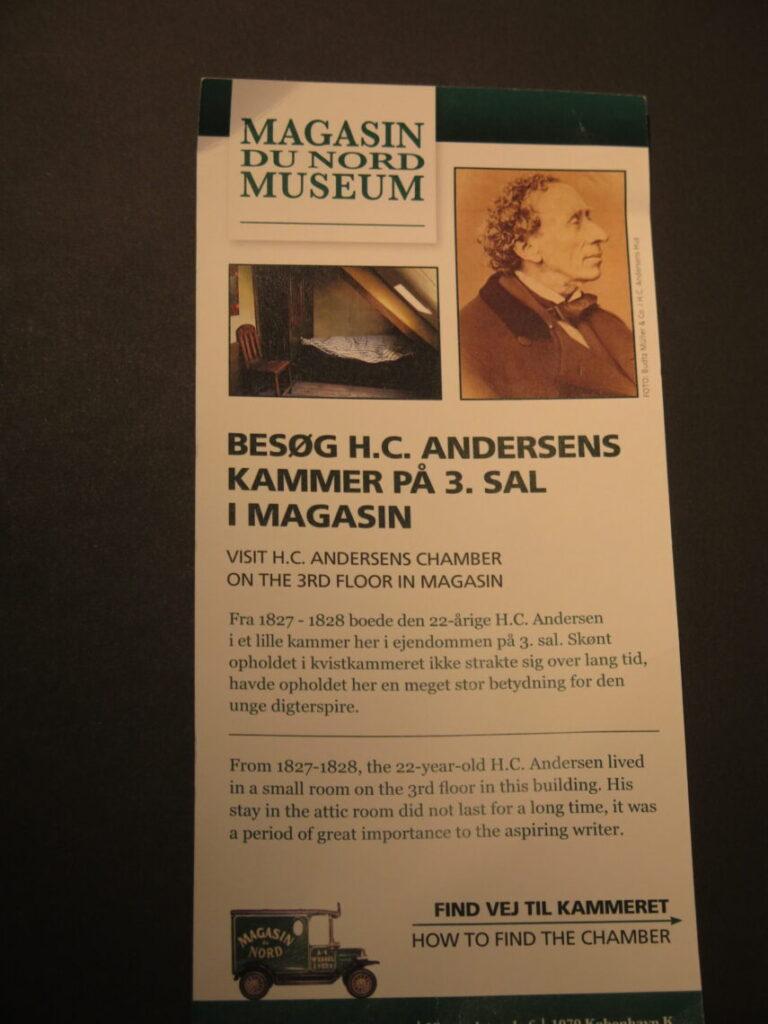 Besøg H. C. Andersens kammer i Magasin du Nord