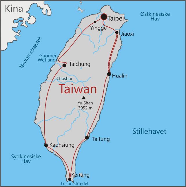 Rundtur på Taiwan