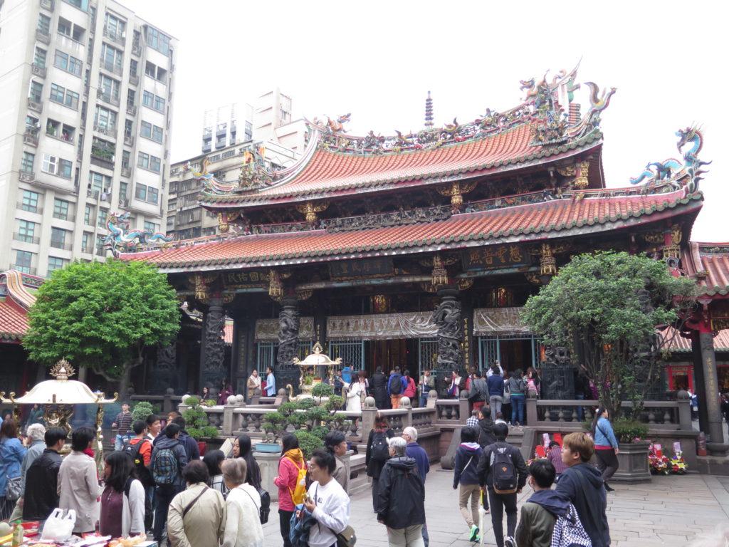 Det Buddhistiske Longshan Tempel i Taiwans hovedstad Taipei