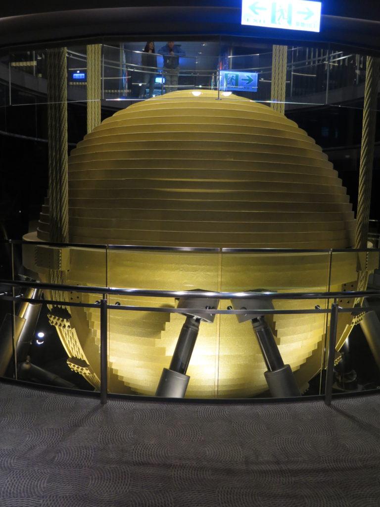 Pendul til at stabilisere Taipei 101 mod jordskælv