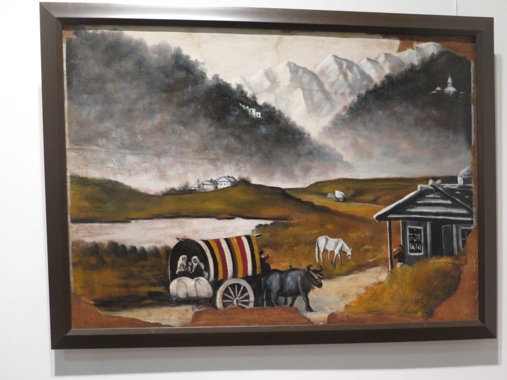 """Trip by Cart """"Tur med vogn"""" af Pirosmani"""