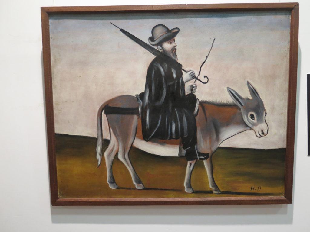 """The Doctor on a Donkey """"Lægen på et æsel"""" af Pirosmani"""