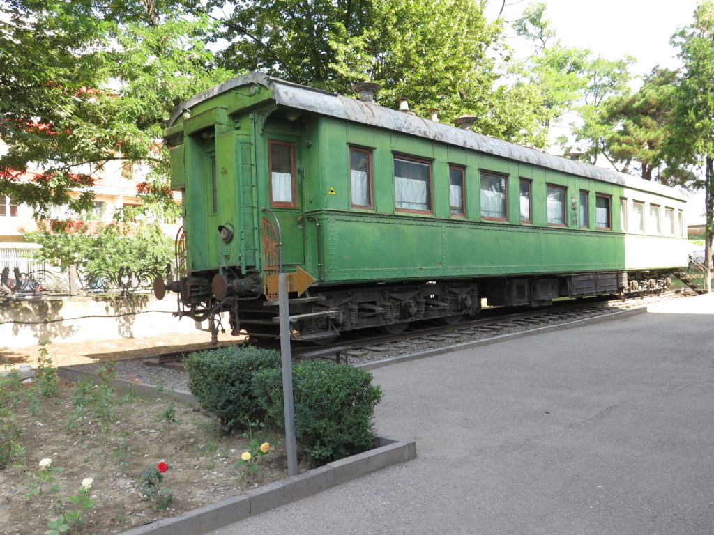 Stalins personlige togvogn fra museet i Gori, Georgien