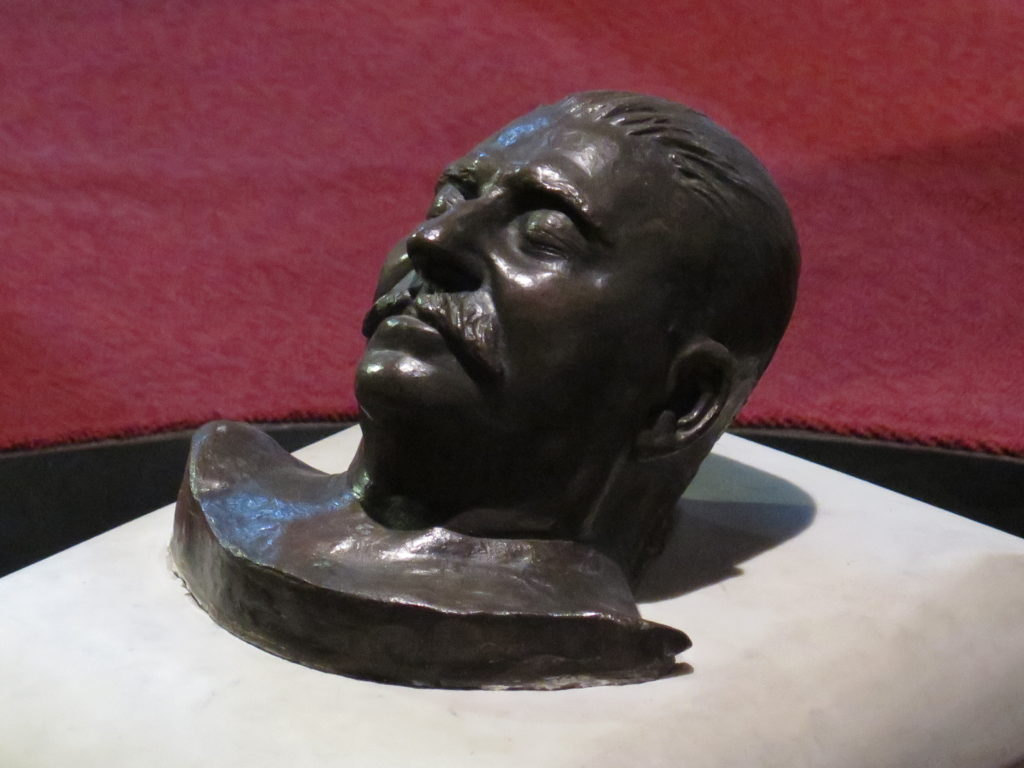 Dødsmaske fra Stalin museet i Gori, Georgien