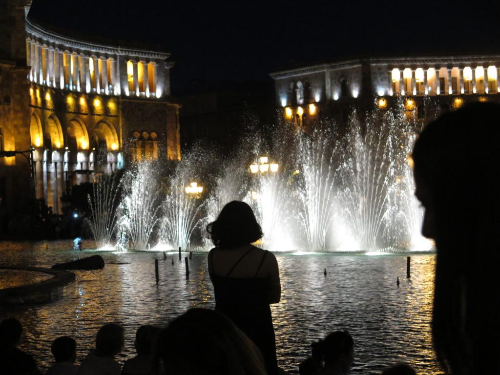 Springvand på Republikpladsen i Yerevan