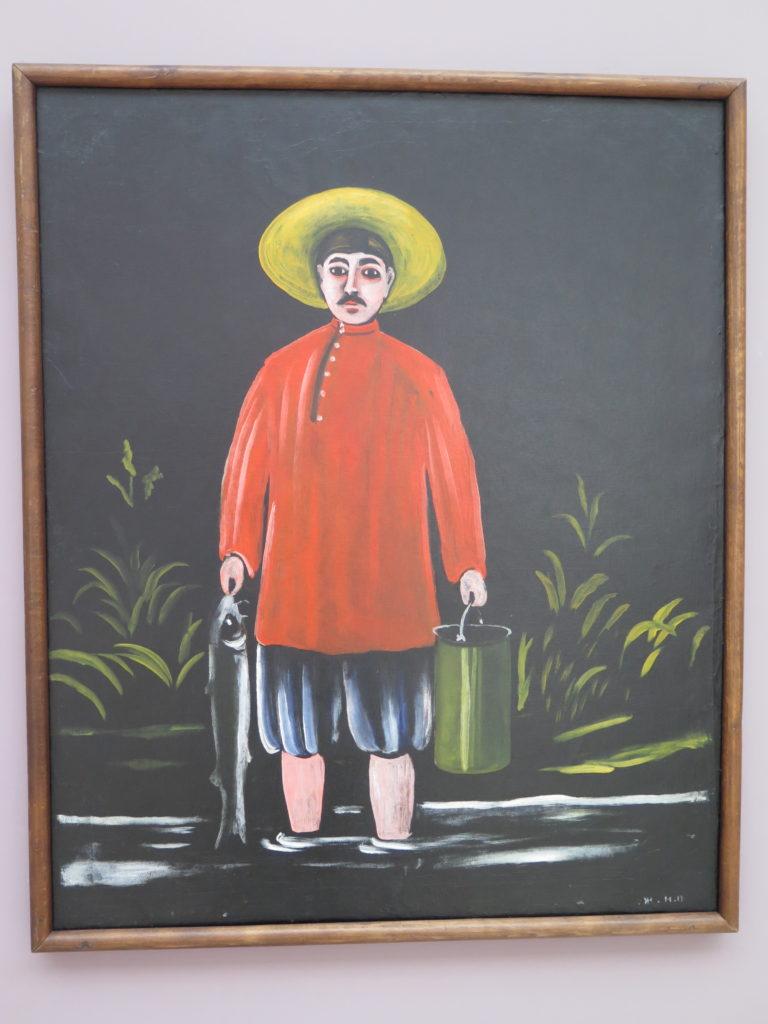 Originalbilledet af Fisherman af Pirosmani
