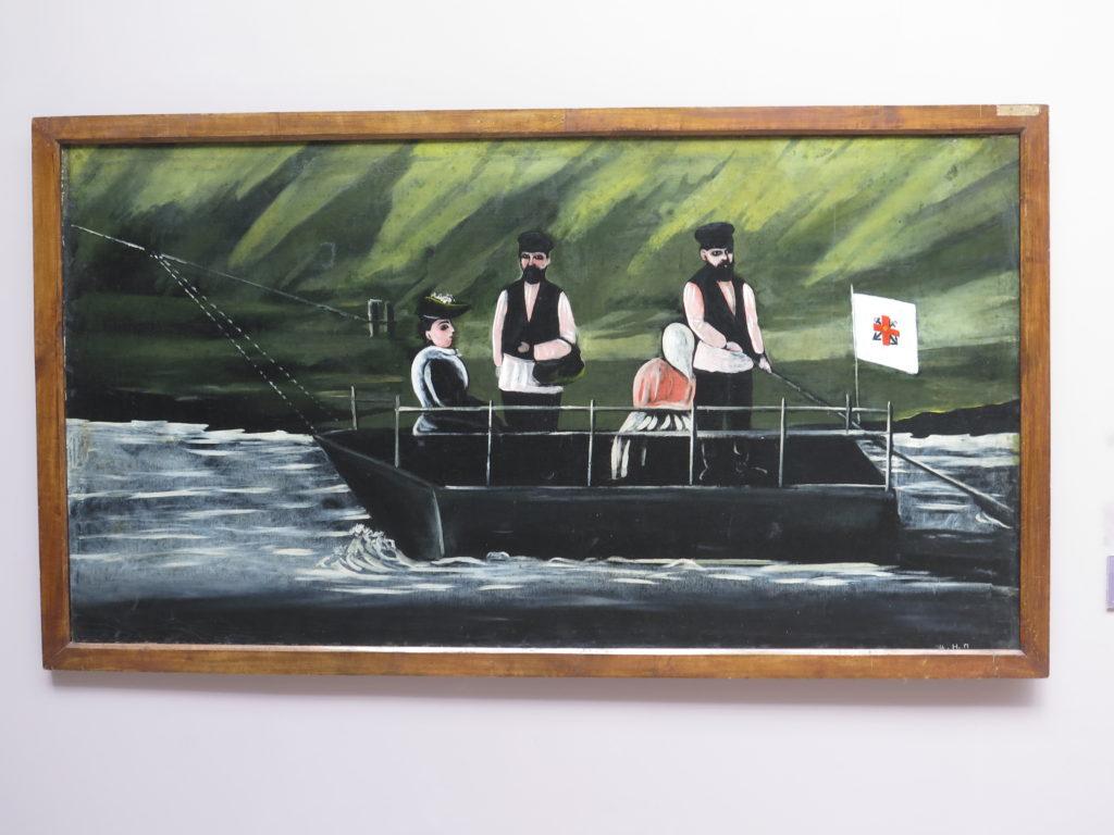 Ferry-boat in Didube af Pirosmani