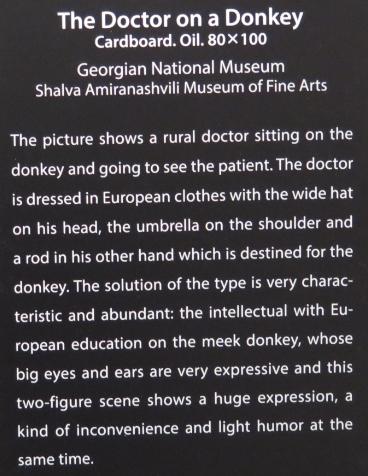Beskrivelse af billedet The Doctor on a Donkey fra Signagi Museet