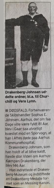 Drakenberg omtalt i Århus Stiftstidende i 1950