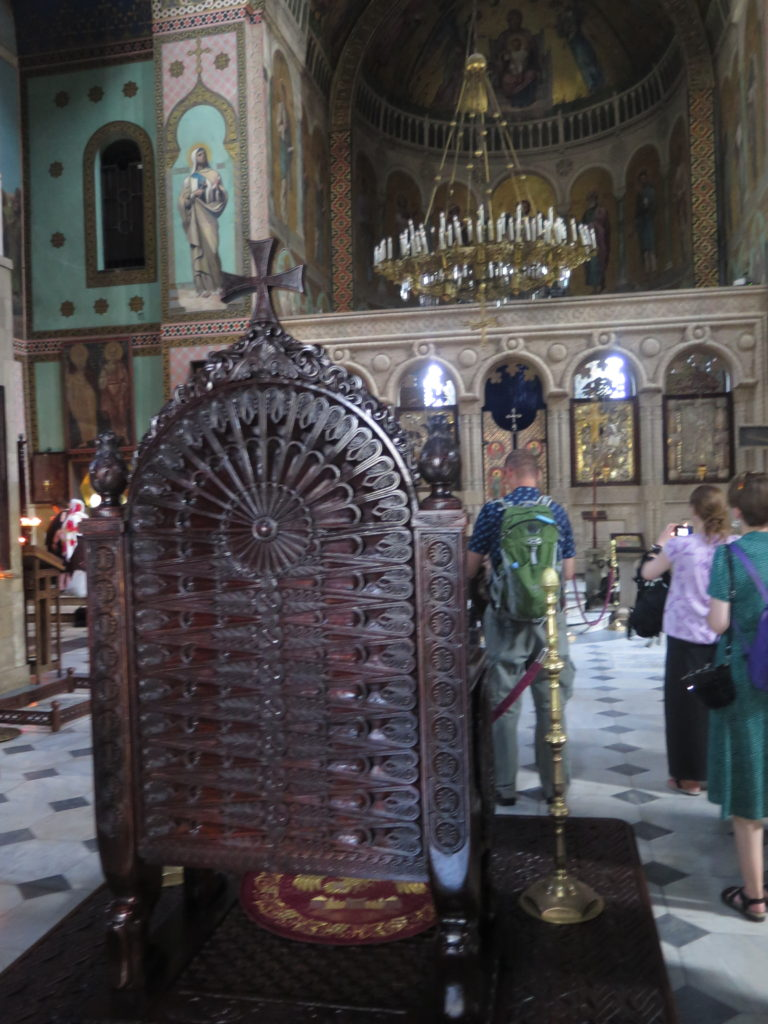 Inde i Sioni-katedralen i Tbilisi