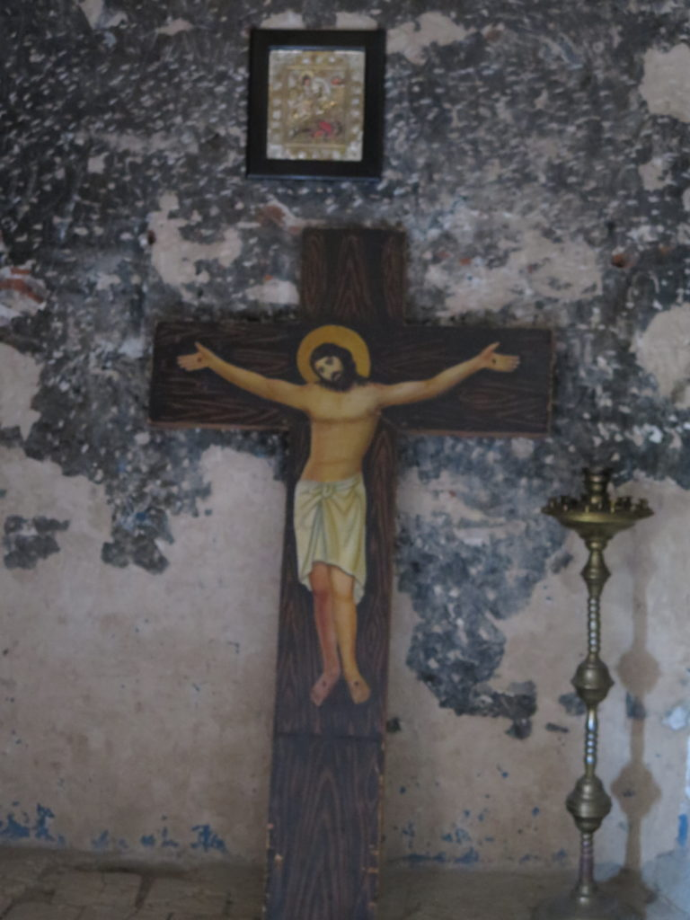 Kors i basilikaen i Uplistsikhe