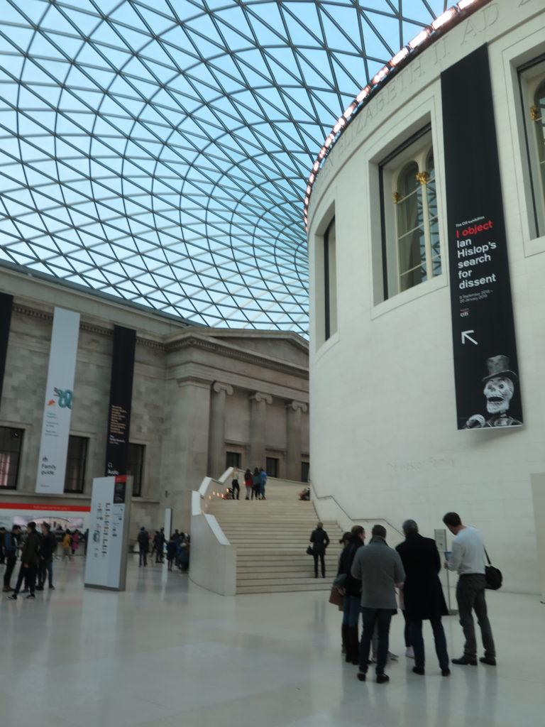 Forhallen på British Museum. Kan man nå Britsh Museum på en time?