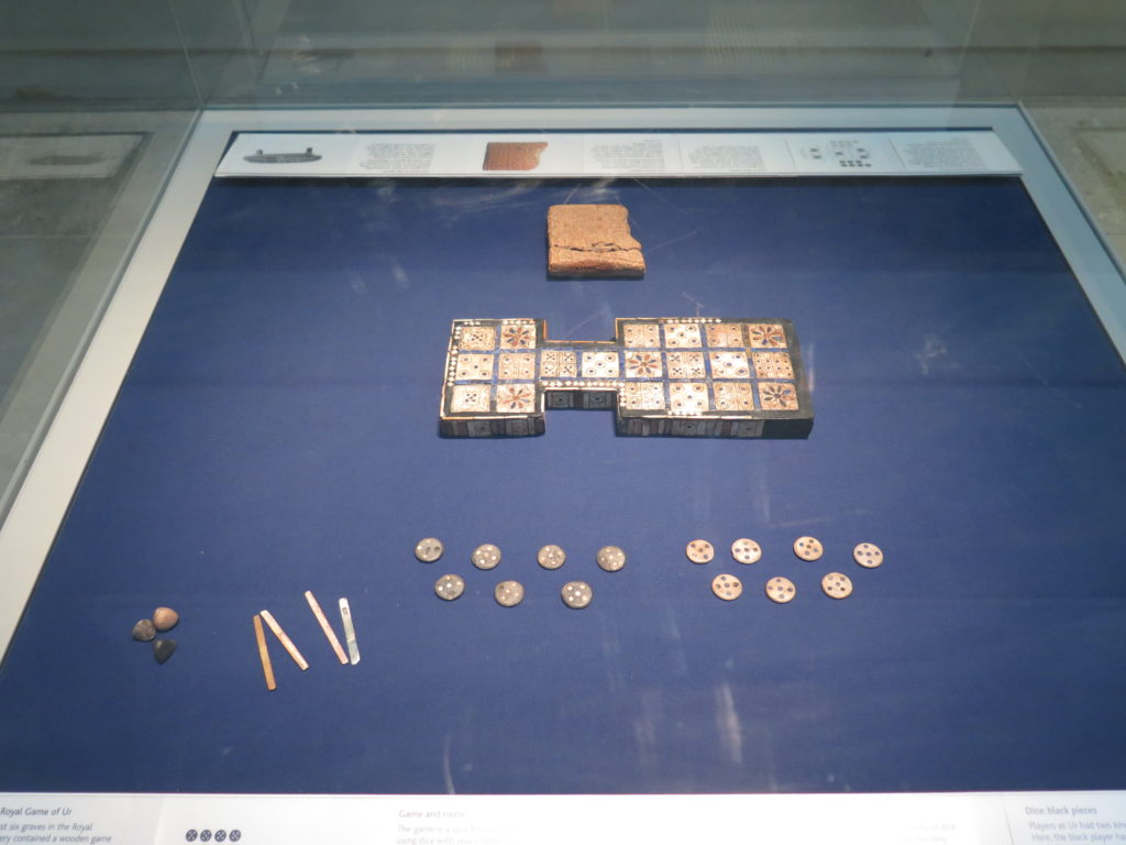 Brætspillet: The Royal Game of Ur. Mon man kan nå British Museum på en time