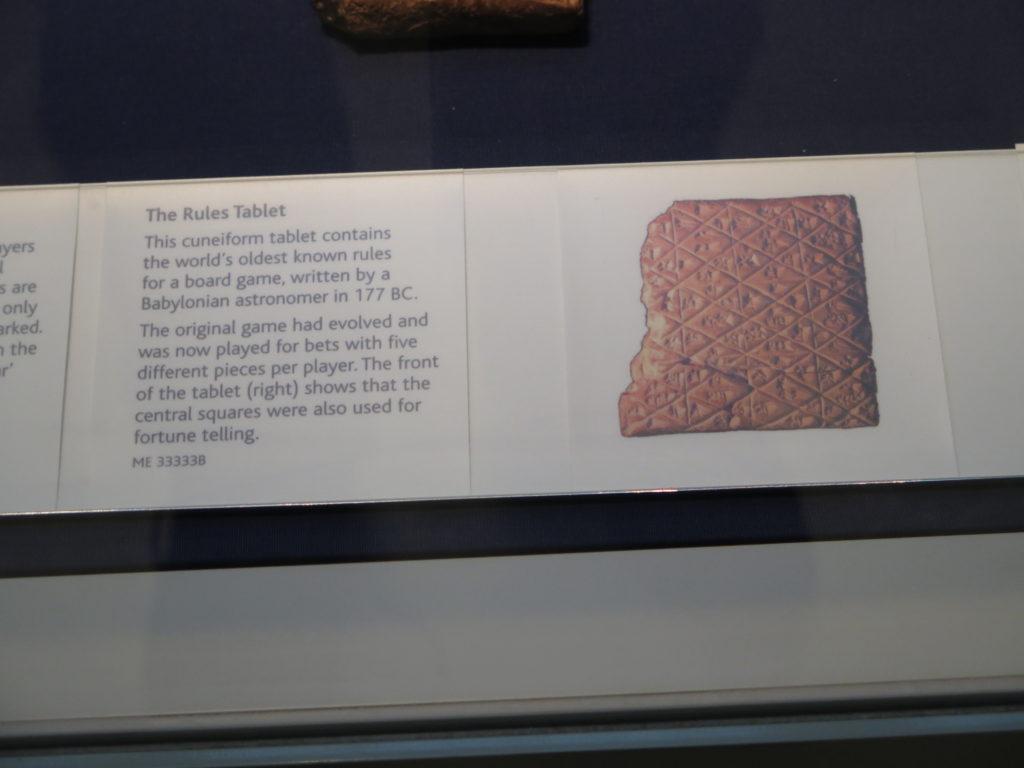 Reglerne blev fundet på en gammel lertavle