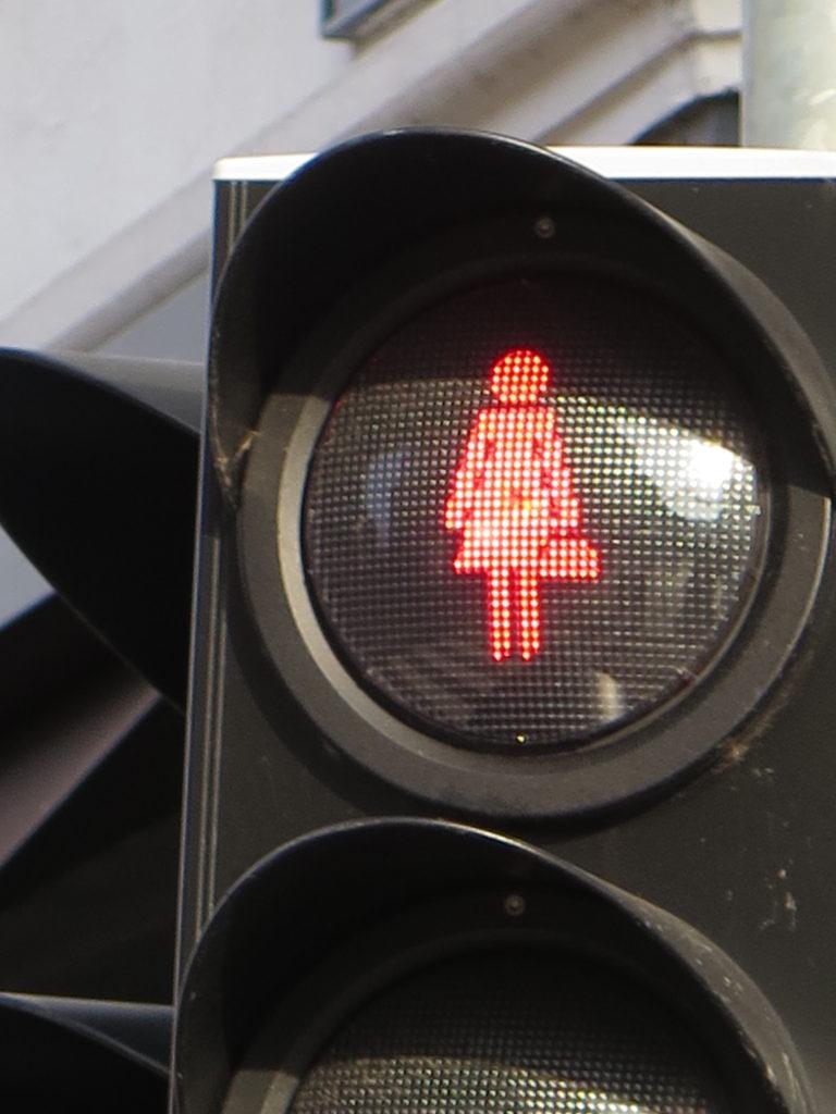 Fodgænger trafiklys - Rødt lys i Vejle