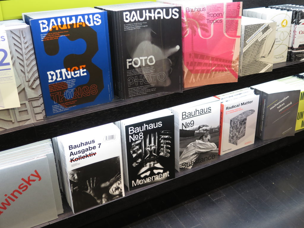 Bauhaus-bøger i shoppen på Tate Modern London