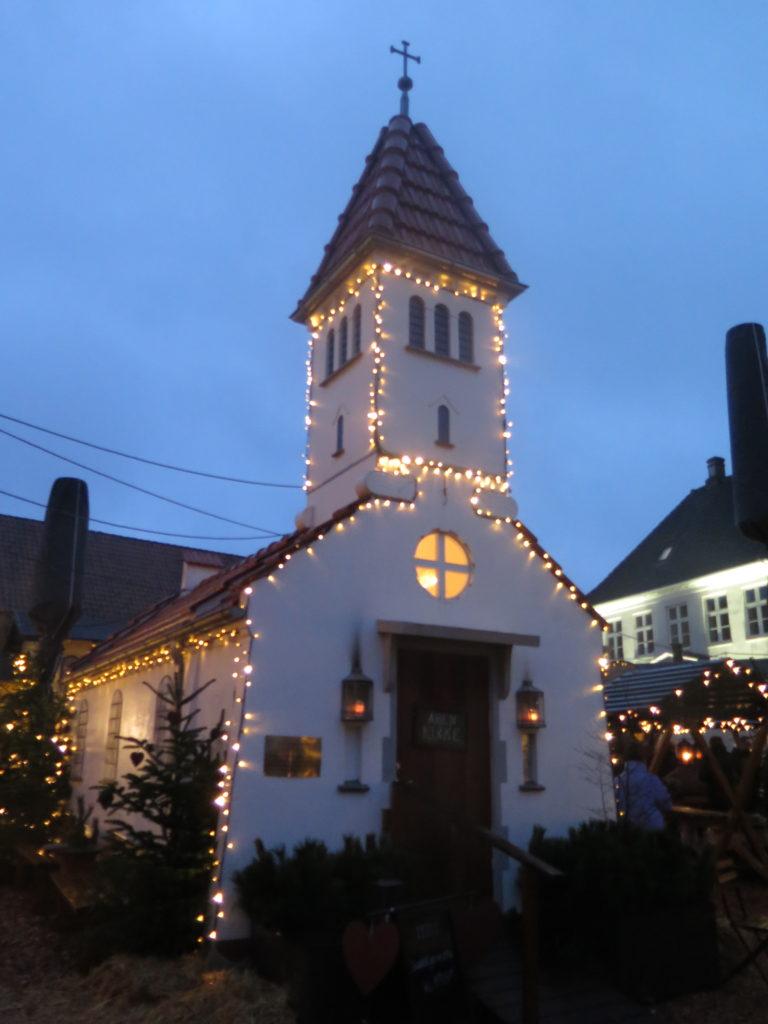 Sct. Jørgens Kirke på julemarkedet i Aabenraa