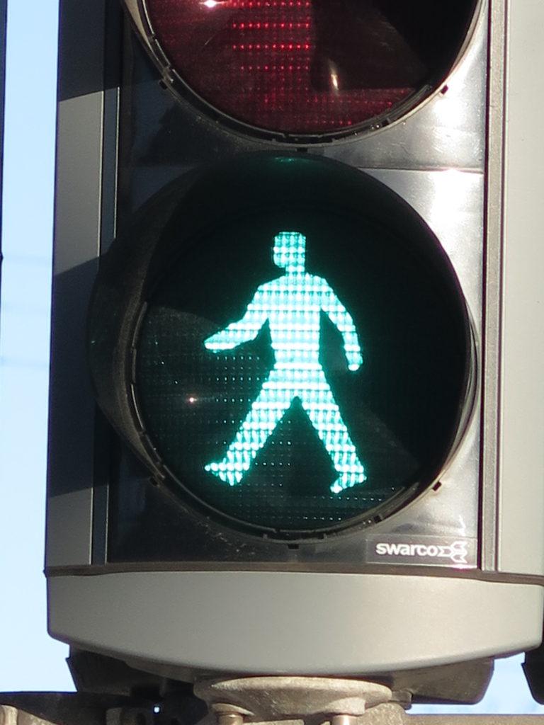 Traditionelt fodgænger trafiklys
