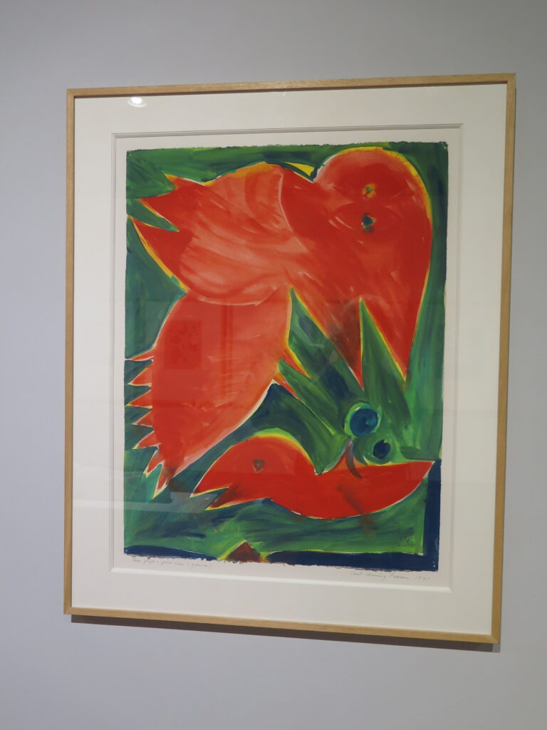 Carl-Henning Pedersen: Røde fugle i grønt rum, 1971
