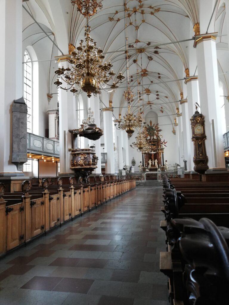 Inde i Trinitatis Kirke