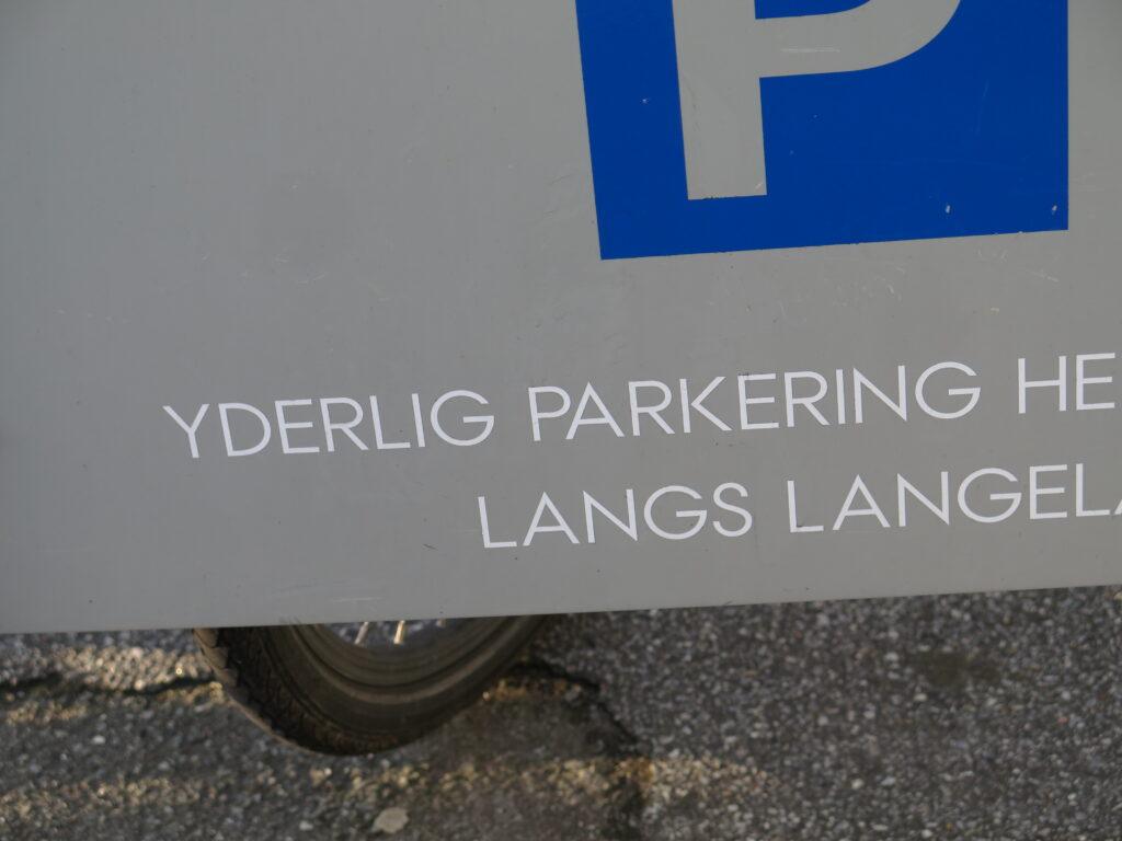 Yderlig parkering henvises til et andet sted