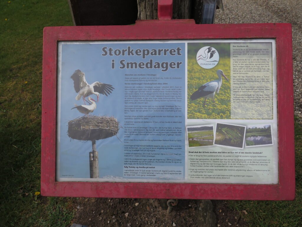 Informationstavle de to storke i Smedager
