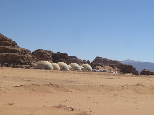Turisttelte i Wadi Rum